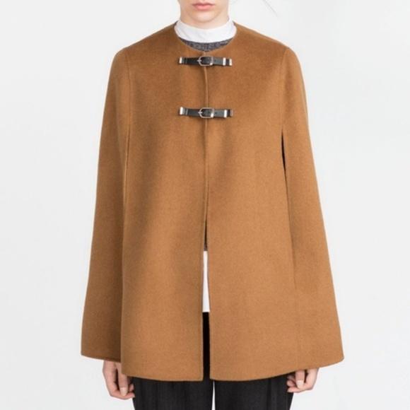816bf98c Zara Jackets & Coats | Handmade Cape W Buckles Caramel Camel Euc ...